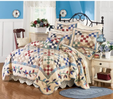 Sadie Cotton Quilt S3t With Shams Quilt With Shams