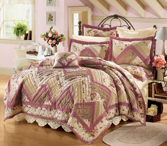 Ziggy Cotton-wool Quilt Set With Shams Quilt With Shams