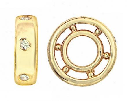 14k Gold And Diamond Storywheel