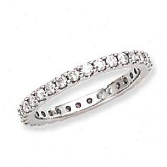 14k White Gold Machin eSet Diamond Eternity Band