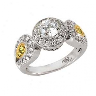 18k Two-tone Couture Diamond Semi-mount Engagement Ring