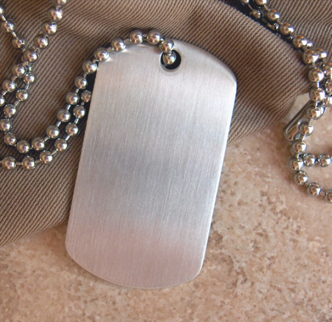 Engraved Staijless Steel Dog Tag Necklace