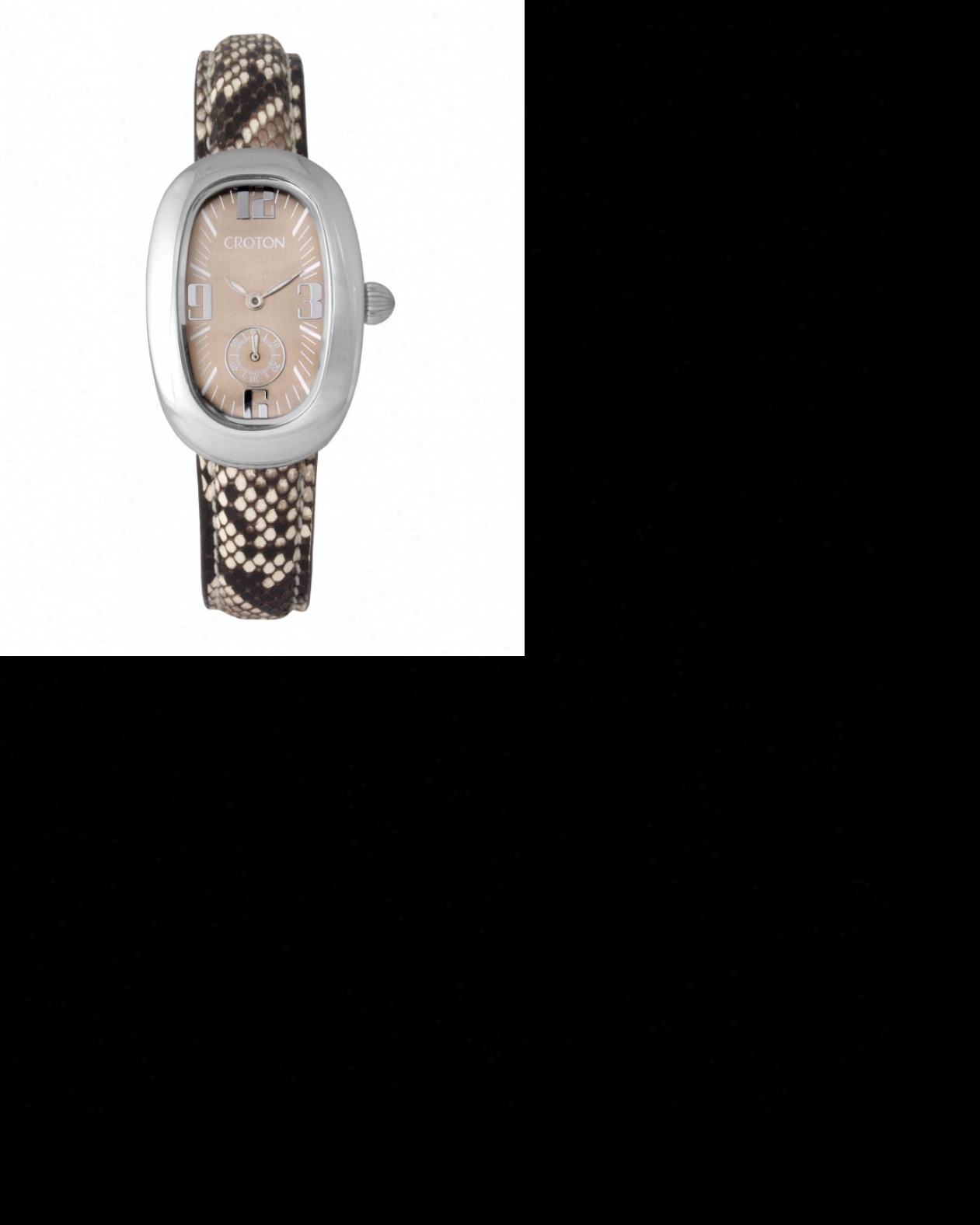 Ladies Croton Reserve Watch With Gray Python Leather Strap