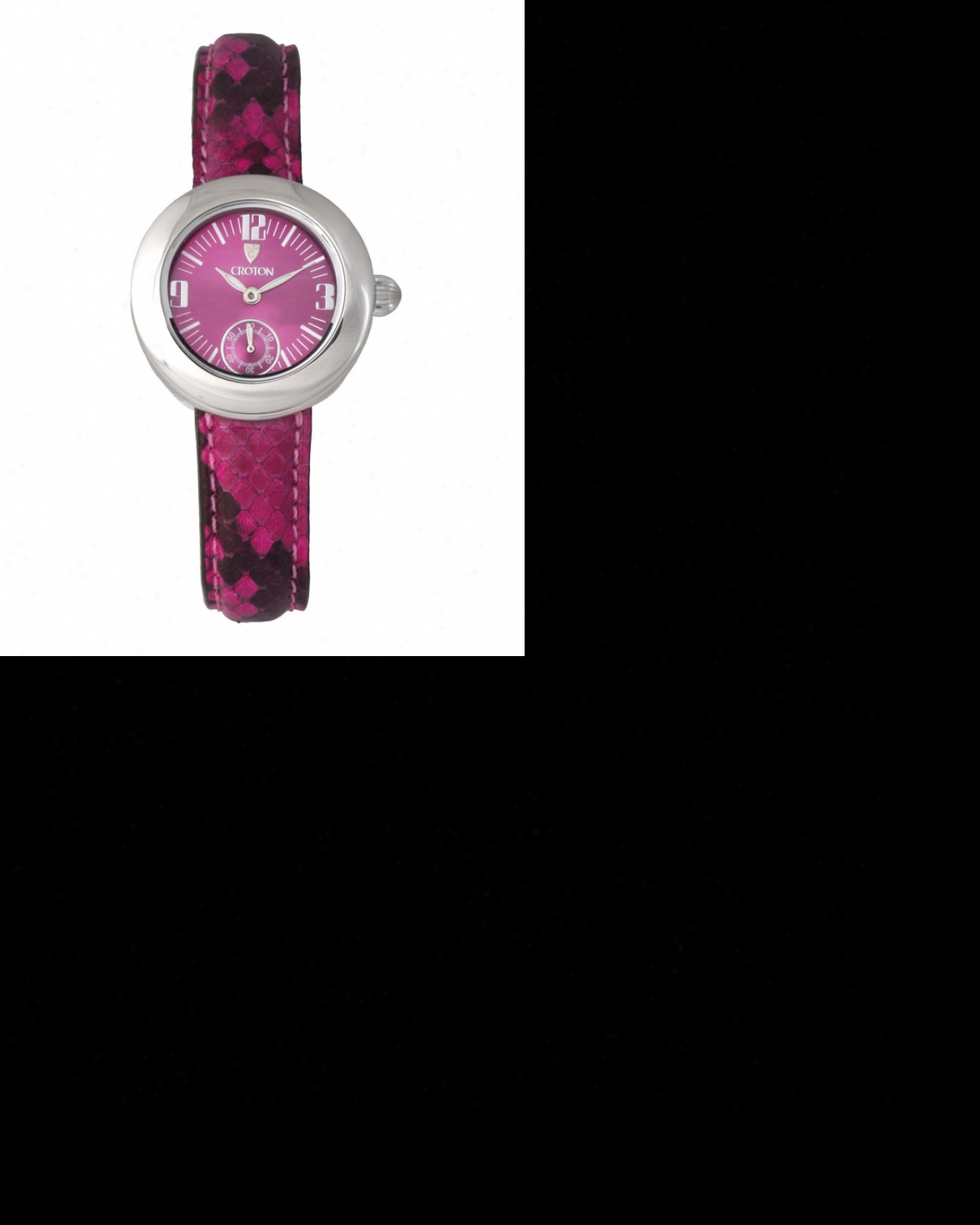 Ladies Croton Reserve Watch With Minnow Python Leather Strap