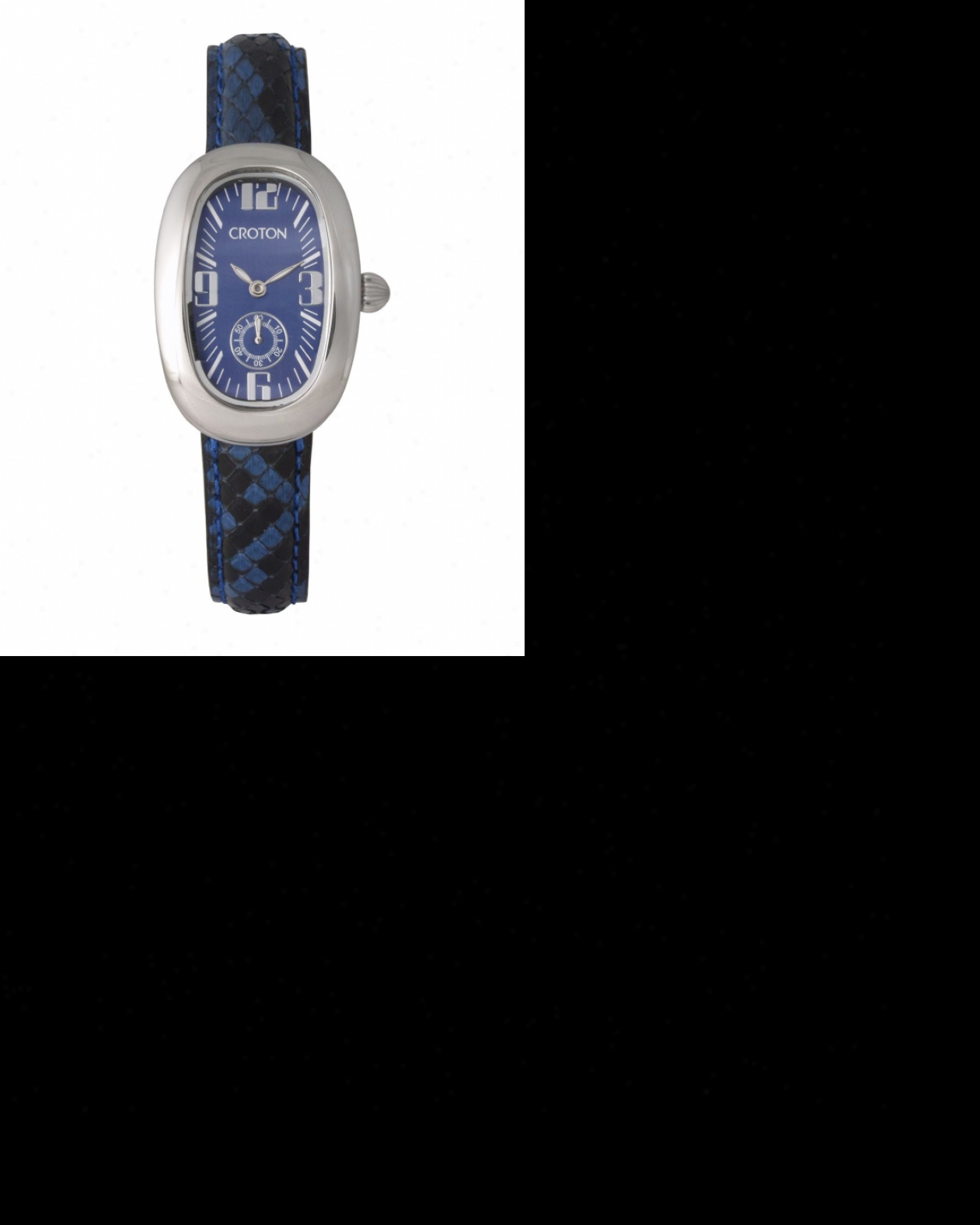 Ladies Croton Reserve Watch With Blue Python Leather Strap