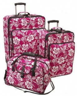 American Tourister Luggage Sets Hawaiian Floral Print 3 Piece Set #183953833