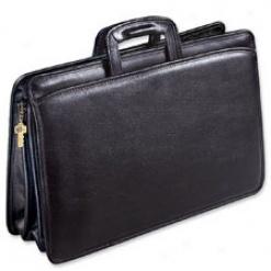 Jack Georges Top Zip Briefcases University Triple Gusset Top Zip Tri-pocket Portfolio #jg2299
