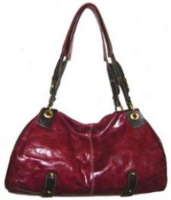 Nino Bossi Double Handle Hobo Handbag Red #nb2070red