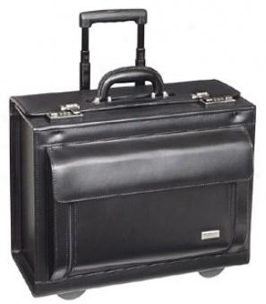 Us Luggage Wheeled Computer Cases Leather Rolling Computer/catalog Case #usld978