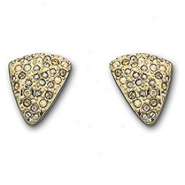Cloe Pierced Earrings, Gold-plated