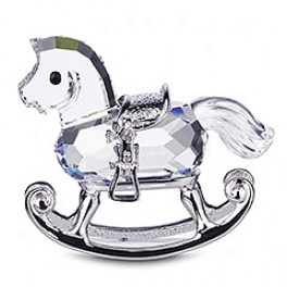 Rocking Horse, Rhodium-plated