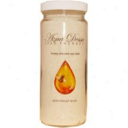 Aqua Dessa Honey Almond Soy Bath Sozk 16 Fl. Oz
