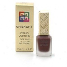 Givenchy Vernis Couture Long Latsing Nail Cllour Color: Rouge Charmeuse