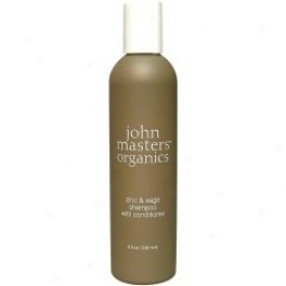 John Masters Organic Zinc & Sage Shampoo With Conditioner 8 Fl. Oz