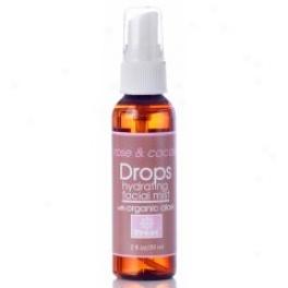 Treat Beauty Drops Rose & Cacao Hydrating Facial Mist 2 Oz