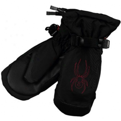 Boys Component Mitten Black/smoke Small