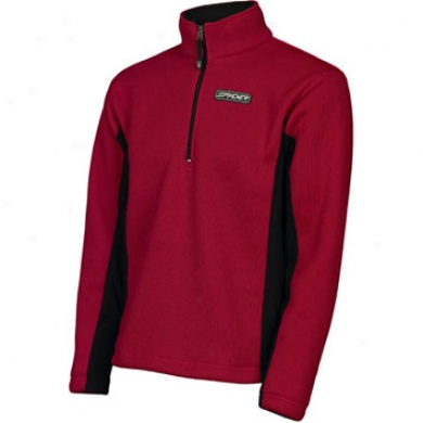 Mens Core Sweater Red/blackM edium