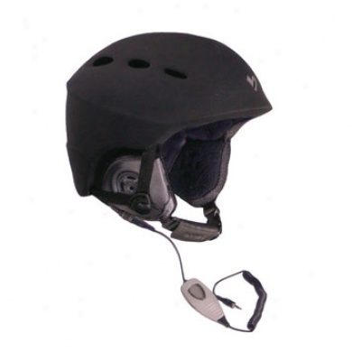 Men's Vorte Helment W/ Audio Black Matte Large