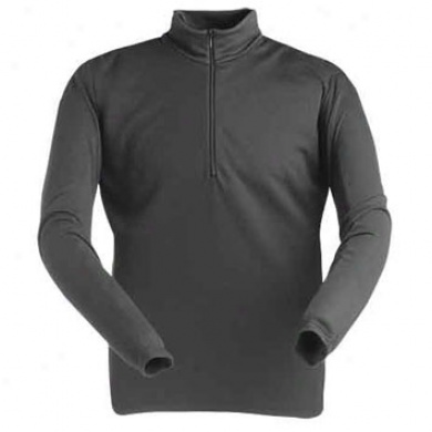 Midweight Men's Base Layer Zip Predominate Black Medium