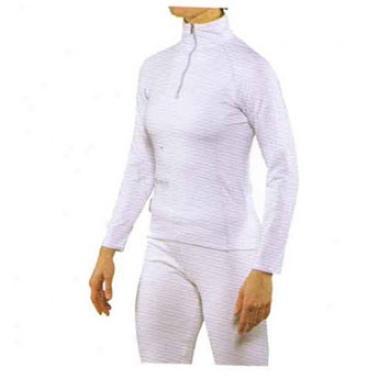 Steele Long-sleeve Zip Mock White X-small