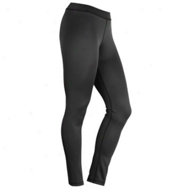 W0men's Lt.weight Base Layer Bottom Black Large